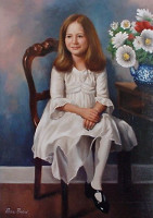 Portrait of a child<br>22 x 28 inches, oil/canvas