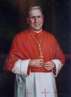 Portrait of New York Diocese John Cardinal O'Conner<br>30 x 40 inches, oil/canvas