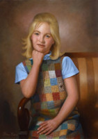 Portrait of Cindy<br>20 x 28 inches, oil/canvas