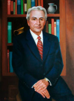 Portrait of President Hardwick of Le Tourneau University<br>30 x 40 inches, oil/canvas