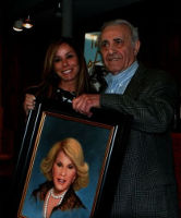 Portrait of Joan Rivers<br>presented by Basil Baylin to her daughter Melissa Rivers