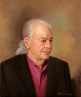 Portrait of Harding Lemay<br>Playwright and Author<br>20 x 24 inches, oil/canvas