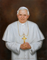 Portrait of Pope Benedict XVI<br>32 x 40 inches, oil/canvas