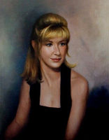 Portrait of a young woman<br>22 x 28 inches, oil/canvas